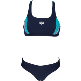 arena Threefold Bikini Women, navy/royal/martinica